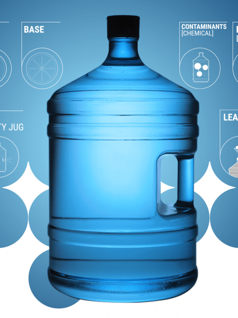 Inspection of large water containers