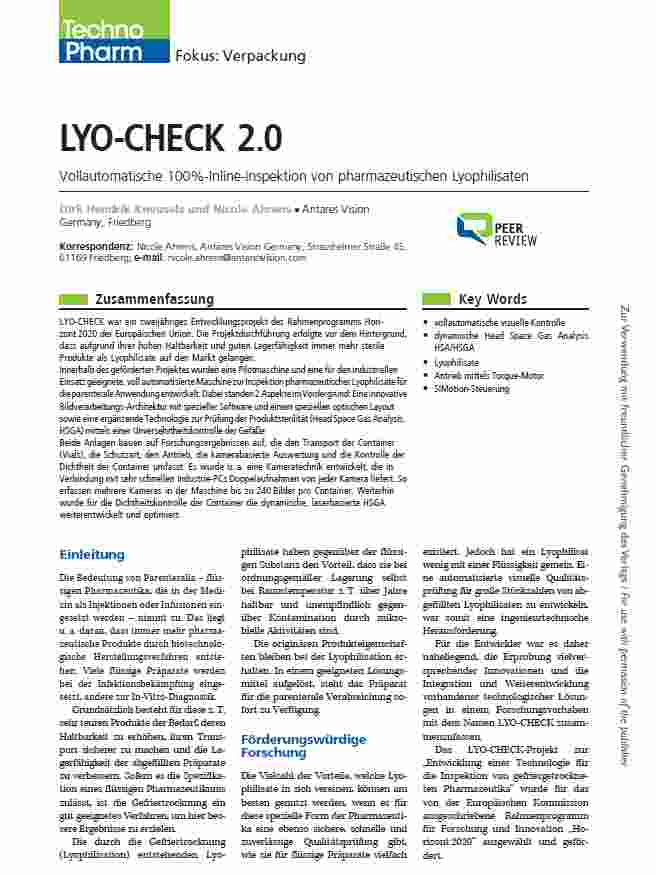 TechnoPharm - LYO-CHECK 2.0